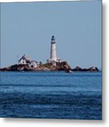 Light House On The Rocks Metal Print