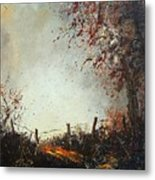Light In Autumn Metal Print