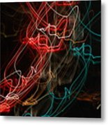 Light In Motion Metal Print