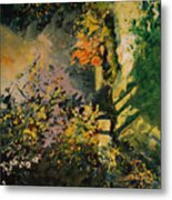 Light In The Wood  Metal Print