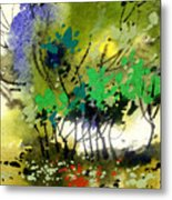 Light In Trees Metal Print