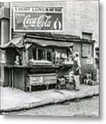 Light Lunch - Hot Dogs - Coca Cola Metal Print