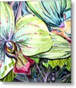 Light Of Orchids Metal Print