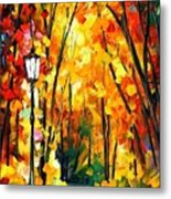 Light Of The Forest - Palette Knife Oil Painting On Canvas By Leonid Afremov Metal Print