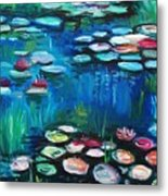Light Of The Lillies Metal Print