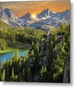 Light On Mack Lake Metal Print