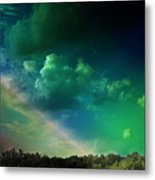 Light On The Forest Metal Print