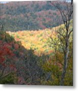 Light On The Valley Metal Print