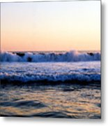 Light On The Wave Tops 4 Metal Print