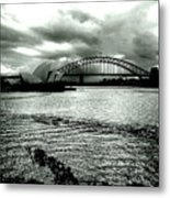 Light Over The Harbour Metal Print