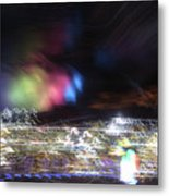 Light Paintings - No 1 - Lightning Squared Metal Print