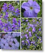 Light Purple Flowers Collage Metal Print