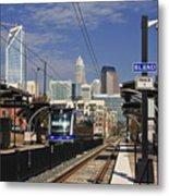 Light Rail In Charlotte Metal Print