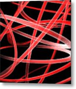 Light Red Metal Print
