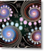 Light Rotate On Spiral Orbit Metal Print