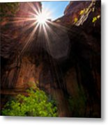 Light Shine Down Metal Print