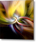 Light Swirl Metal Print