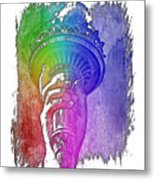 Light The Path Cool Rainbow 3 Dimensional Metal Print