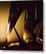 Light Up Sail Of Opera House  Metal Print