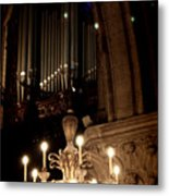 Light Up The Pipes Metal Print