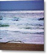 Light Waves To Sand Metal Print