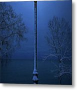 Light Winter Blue Metal Print