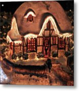Lighted Christmas House  Metal Print