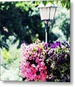 Lighted Flowers Metal Print
