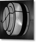Lighted Wall In Black And White Metal Print