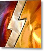 Lightening Bolt Abstract Posterized Metal Print