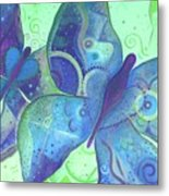 Lighthearted In Blue Metal Print