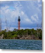 Lighthouse At Anclote Key Metal Print
