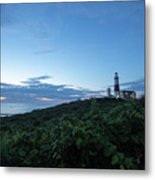 Lighthouse At Blue Hour Metal Print