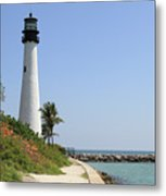 Lighthouse At Key Biscayne Florida  Metal Print