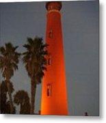 Lighthouse At Sunset Metal Print