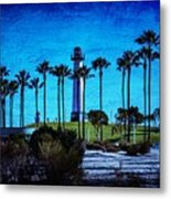 Lighthouse, Blue Lb Metal Print