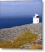 Lighthouse Cliff Metal Print