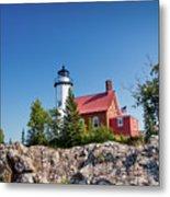 Lighthouse Eagle Harbor Lake Superior -6533 Metal Print