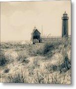 Lighthouse Fade Metal Print