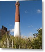 Lighthouse From Dunes Metal Print