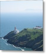 Lighthouse Howth Metal Print
