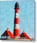 Lighthouse - Id 16217-152045-8706 Metal Print