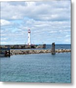 Lighthouse In Michigan Metal Print