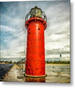 Lighthouse In South Haven Metal Print