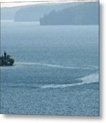 Lighthouse In The Bay Metal Print