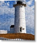 Lighthouse Keepers Dwelling Metal Print
