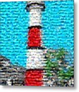 Lighthouse Made Of Lighthouses Mosaic Metal Print