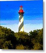 Lighthouse Of Saint Augustine Metal Print