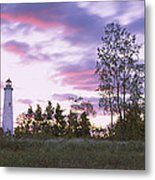 Lighthouse On A Landscape, Tawas Point Metal Print