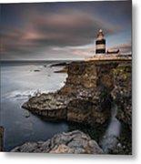 Lighthouse On Cliffs Metal Print